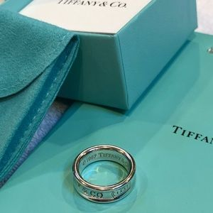 Tiffany & Co. 925 SS Wide Concave Band 1837 Ring